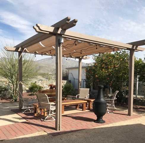 - 2 Rows Of 5'x10' Infinity Canopy Featuring Sunbrella Linen Fabric