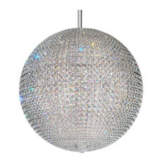Da Vinci 72-Light Pendant in Stainless Steel With Clear Crystals From Swarovski