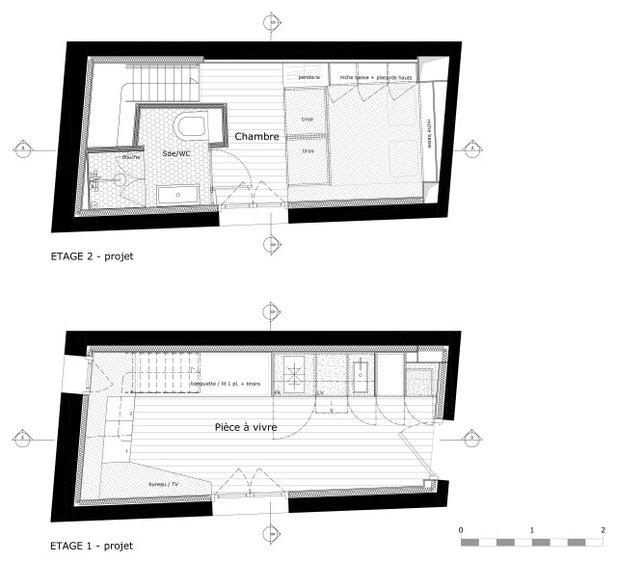 План этажа by LAUREN HAVEL Architecte