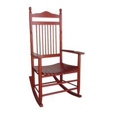 dixie seating standard slat porch rocking chair in red fini outdoor rocking chairs