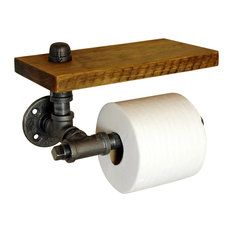 Rustic Wall Mounted TP Holder With Shelf