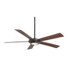 "Minka Aire - 52"" Ceiling Fan, Oil Rubbed Bronze With Frosted/White Glass - Ceiling Fans"