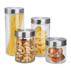 Round 4 Piece Glass Canisters