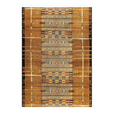 "Liora Manne Marina Tribal Stripe Indoor/Outdoor Rug, Gold, 7'10""x9'10"""