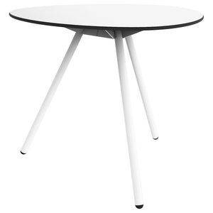 Dine A-Lowha Dining Table, White, White Frame