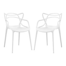 Entangled Dining Chairs Set Of 2 White