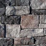 """Mountain View Stone - Lime Stone, Midnight, 30 Sq. Ft. Flats - A classic hand chiseled stone with a distinctive embedded rough texture precisely designed to mimic quarried and cut lime stone. Lime stone is shaped for bold, traditional statements with clean contemporary lines. Its old-world appearance with rugged rectangular ashlar shapes lends itself to a wide variety of architectural styles adding elegance to any residential or commercial application. Also known as rough cut or Austin stone. Lime stone is a stone veneer product measuring 1.5"""" to 2.5"""" thick and therefore thinner than traditional stone siding for easier, lighter handling. All our manufactured stone veneer products are suitable for interior applications such as stone accent walls or stone fireplaces as well as exterior applications such as stone veneer siding. Lime stone is available in boxes of 10 square foot flats, boxes of 6 lineal foot matching corners, 150 square foot bulk crates, and samples are also available!"""