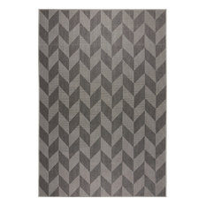 "Patio Country Black/Gray 7'9""x10'2"" Area Rug"
