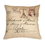 Pillow Decor - Postcard to Paris 24 x 24 Throw Pillow