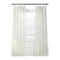 "Signature Off White Sheer Curtain Single Panel, 50""x96"""