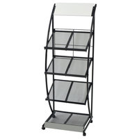 vidaXL Magazine Rack Black and White A4 Cabinet Storage Newspaper Rack Holder