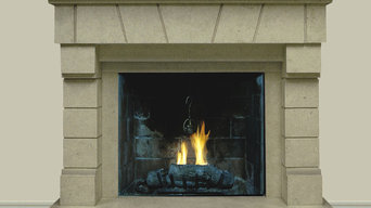 Cedra #303 Hand Carved Natural Stone Fireplace Mantel
