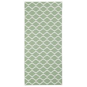Wave Woven Vinyl Floor Cloth, Green, 70x300 cm