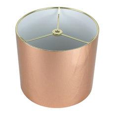 """Classic Drum Metallic Lampshade, 8""""x8""""x7"""", Copper"""