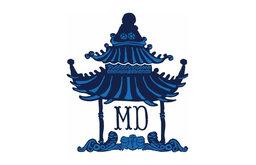 Pagoda Tray, Navy