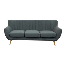 Lilly 3-Seater Sofa Dark Grey