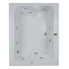 "60""L x 48""W combination baths Elite White Whirlpool and airbath"