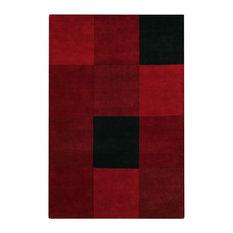 CHANDRA   Antara Area Rug, Rectangle, Red Black, 5u0027x7u0027