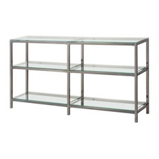 Coaster Industrial Metal Bookcase/Console With Glass Shelves
