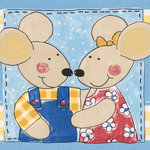 Norwall - Wall Border, Cartoon Mice Blue Kids Wallpaper Border Retro Design, Prepasted - *EXTREMELY HIGH QUALITY - our decorative wall border is of perfect quality, made using only finest materials and excellent manufacturing practices, making this border wallpaper long lasting. Easy to install and DIY - the border is prepasted and strippable.