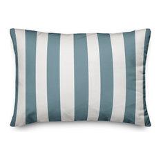 Sea Glass Cabana Stripe 14x20 Lumbar Pillow