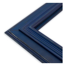 """Lauren Midnight Blue Picture Frame, Solid Wood, 16""""x20"""""""