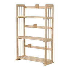 furinno furinno fncl33001 pine solid wood 3tier bookshelf natural