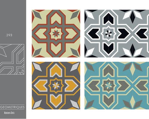 carreaux de ciment collection les g om triques. Black Bedroom Furniture Sets. Home Design Ideas