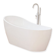 Woodbridge 67'' Bathroom White Acrylic Freestanding Bathtub