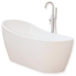 Bathtubs and showers with free shipping for Woodbridge 54 modern bathroom freestanding bathtub