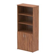 Impulse Cupboard With Shelves, Walnut