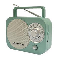 Portable AM/FM Radio, Teal