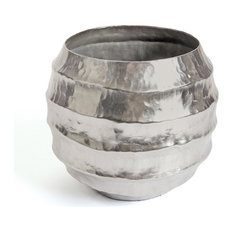 Hammered Brushed Nickel Tifton Pot Home Accents 20466
