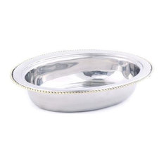 Old Dutch Oval Stainless Steel Food Pan for No. 841 6 qt.
