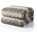 "Tache Home Fashion - Snow Giraffe Faux Fur Throw Blanket, 63""x87"" - The Snow Giraffe Faux Fur Throw Blanket is ultra-soft, cozy and warm fills the void in the home luxury faux fur market at an affordable price. It gives a nod to nature by supplying the luxury look and feel of real fur without harming any animals. Whether placed on your bed, chair, or sofa, this faux fur throw adds a dash of sophisticated elegance to your home. Exceptionally soft and plush, two distinct sizes accommodate your setting. Wild Mannered throws are a functional yet fashionable accent piece. Available in two generous sizes: 50"" x 60"", and 63"" x 87""."