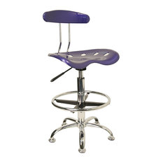 flash furniture vibrant deep blue and chrome drafting stool with tractor seat office chairs asian office furniture