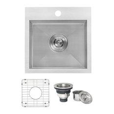 """Ruvati 15"""" Drop-in Bar Prep Sink Stainless Steel, RVH8115"""