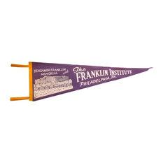 Consigned, Vintage the Franklin Institute Philadelphia PA Felt Flag Pennant