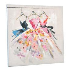 EMDE Dress Painting, Coral, 60x60 cm