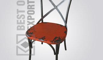 Vintage Industrial X Cross Restaurant Chair
