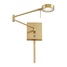 Georges Reading Room 1 Light Swing Arm or Wall Lamp in Honey Gold