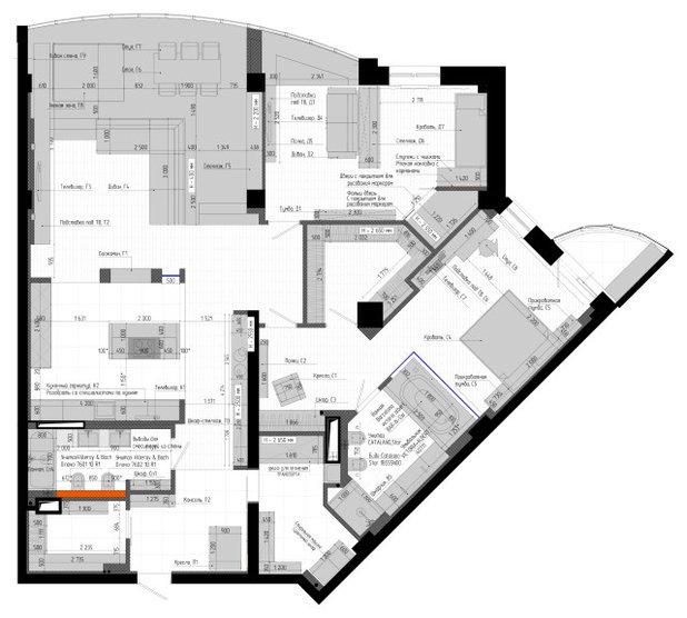 Поиск планировки: Квартира с открытой ванной в спальне [4 плана]