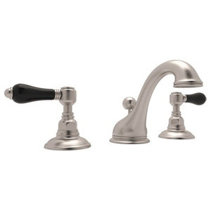 Rohl Viaggio 1.2 GPM Lavatory Faucet with 2 Lever Handles, Satin Nickel