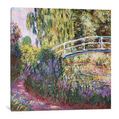 """The Japanese Bridge, Pond Water Lilies, 1900"" by Claude Monet, 37x37x0.75"""