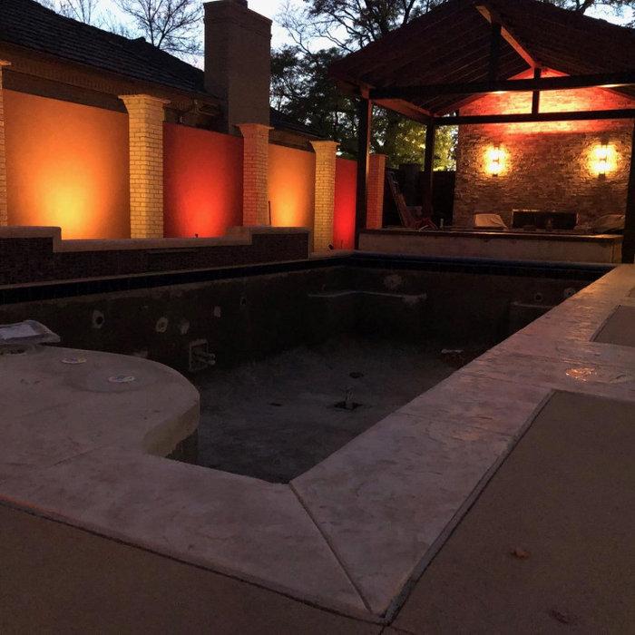 Pool house pergola