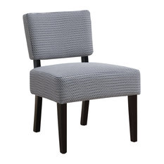 Accent Chair, Light, Dark Blue Abstract Dot Fabric