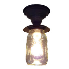 Mason Jar Exterior Porch Farmhouse Ceiling Light Fixture