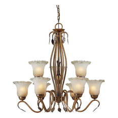 Forte Lighting 2420-09-41 3+6 LT Chandelier