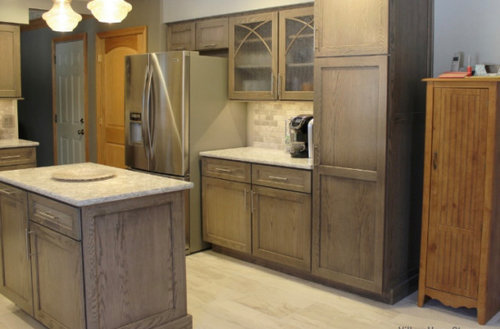 Gel Stain Brown White Wood Cabinets