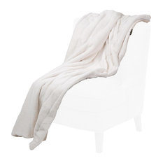 Bellhaven Faux Fur Throw by Michael Amini
